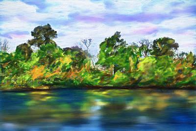 Landscape Painting - Shoreline Reflections - Lake Landscape by Barry Jones