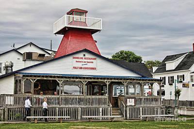 Photograph - Shoreline Restaurant Lighthouse by Tatiana Travelways