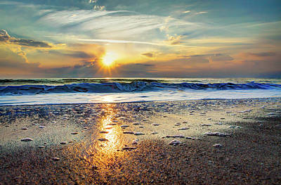 Shoreline Sunrise Art Print