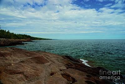 Lake Superior Photograph - Shoreline by Susan Wheeler