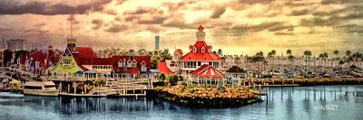 Digital Art - Shoreline Village by Bob Winberry