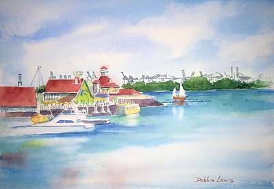 Painting - Shoreline Village by Debbie Lewis