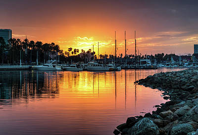 Photograph - Shoreline Village Marina Sunrise by R Scott Duncan