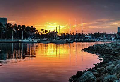 Photograph - Shoreline Village Marina Sunrise by R Scott Duncan