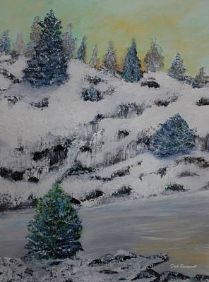 Painting - Shoreline Winter by Dick Bourgault