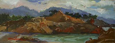 Betty Billups Wall Art - Painting - Shores Of Carmel  Plein Air by Betty Jean Billups
