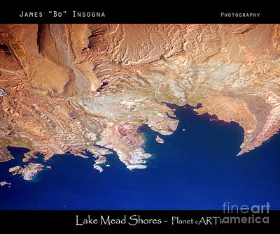 Photograph - Shores Of Lake Mead Planet Art by James BO Insogna