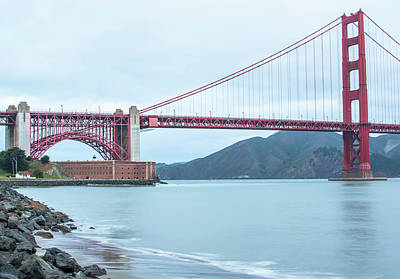 Photograph - Shores Of The Golden Gate - San Francisco California by Gregory Ballos