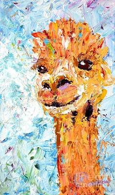 Painting - Shorn Alpaca. Where's My Fleece? by Lynda Cookson