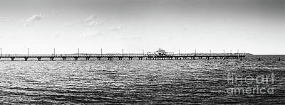 Photograph - Shorncliffe Pier Black And White Landscape by Jorgo Photography - Wall Art Gallery