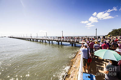 Gathering Photograph - Shorncliffe Pier Re-opening 2016 by Jorgo Photography - Wall Art Gallery