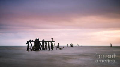 Photograph - Shorncliffe Pier Supports by Silken Photography