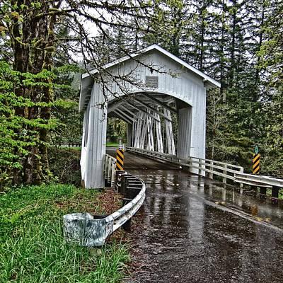 Photograph - Short Covered Bridge by Thom Zehrfeld