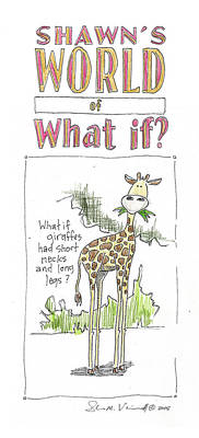 Mixed Media Royalty Free Images - Short necked giraffes? Royalty-Free Image by Shawn Vincelette