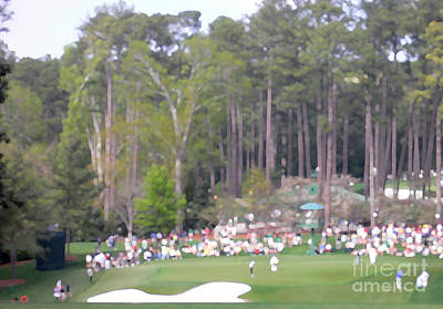 Masters Golf Photograph - Short Of The Green by David Bearden