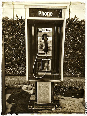 Photograph - Short Stack Pay Phone by Nathan Little