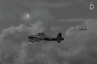 Digital Art - Short Stirling - 7 Sqdn Remembered by Pat Speirs
