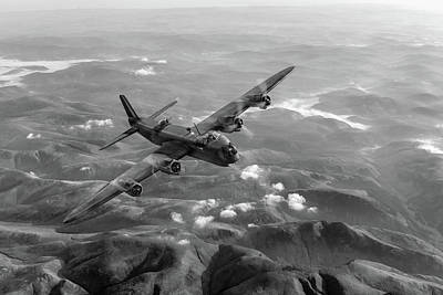 Photograph - Short Stirling Air Test Black And White Version by Gary Eason