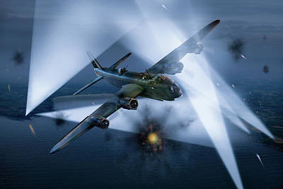 Photograph - Short Stirling Lk386 Battling Through  by Gary Eason