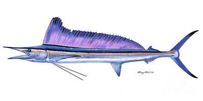 Shortbill Spearfish  Art Print by Carey Chen