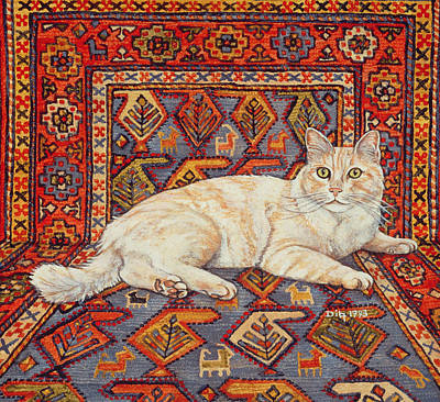 Persian Carpet Painting - Shortcake by Ditz