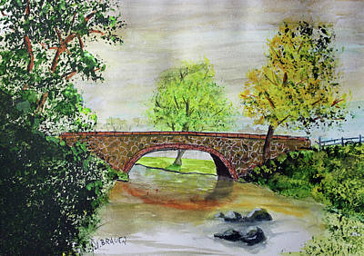 Painting - Shortcut Bridge by Jack G Brauer