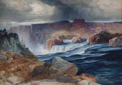 Shoshone Falls Idaho Art Print by Thomas Moran