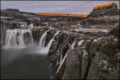 Photograph - Shoshone Falls Illumination by Erika Fawcett