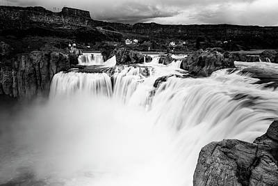 Photograph - Shoshone Falls In Black And White by Vishwanath Bhat
