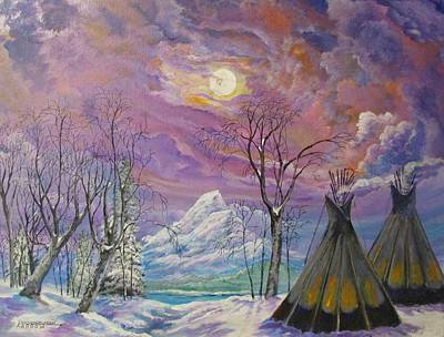 Painting - Shoshone Moon by Dave Farrow