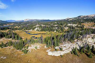 Beartooth Mountain Range Photograph - Shoshone National Forest View by Jess Kraft