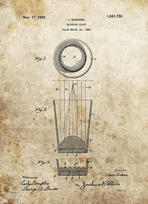 Digital Art - Shot Glass Patent by Dan Sproul