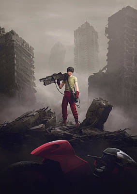 Scifi Painting - Shotaro Kaneda by Guillem H Pongiluppi