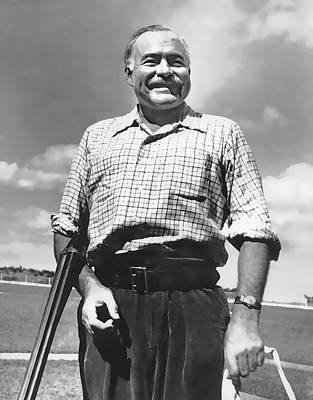 Hemingway Digital Art - Shotgun Hemingway by Daniel Hagerman