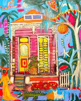 Shotgun House On The Bayou Art Print by Linda MorganSmith