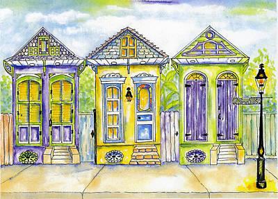 Shotgun Houses Art Print by Catherine Wilson