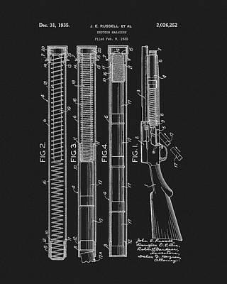 Mixed Media - Shotgun Magazine Patent by Dan Sproul