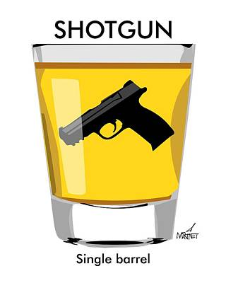 Digital Art - Shotgun by Mike Martinet