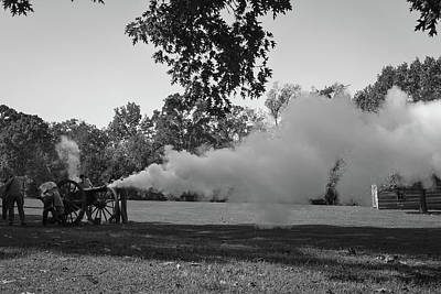 Photograph - Shots Fired - Prairie Grove Battlefield - Arkansas Black And White by Gregory Ballos
