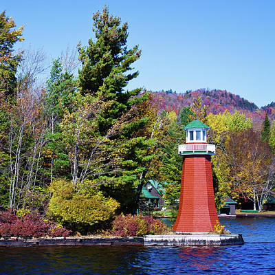 Fall Colors Photograph - Shoul Point Lighthouse 2 by David Patterson