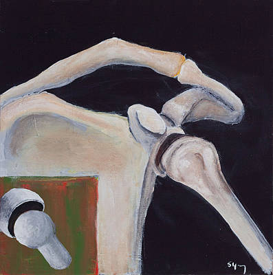 Osteopath Painting - Shoulder Function by Sara Young