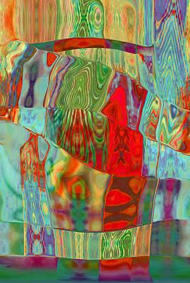 Digital Art - Shoulder To Shoulder Design 1 by Kate Word