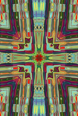 Digital Art - Shoulder To Shoulder Kaleidoscope 2 by Kate Word