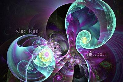 Shoutout Hideout - Digital Abstract Art Print by Michal Dunaj