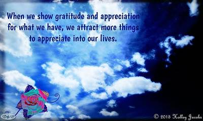Digital Art - Show Gratitude And Appreciation by Holley Jacobs