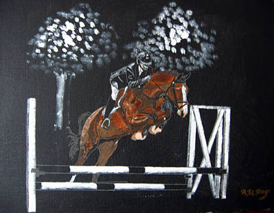 Painting - Show Jumper by Richard Le Page