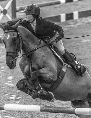 Warmblood Photograph - Show Jumping Lightning by Betsy Knapp