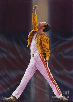 Freddie Mercury  Queen Show Must Go On Art Print