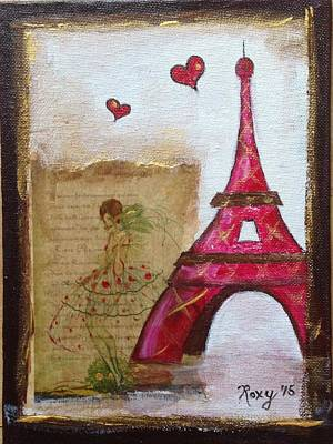 Cities Painting - Show Stopper In Paris by Roxy Rich