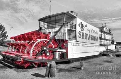 Photograph - Showboat Big Wheel Selective Color by Mel Steinhauer